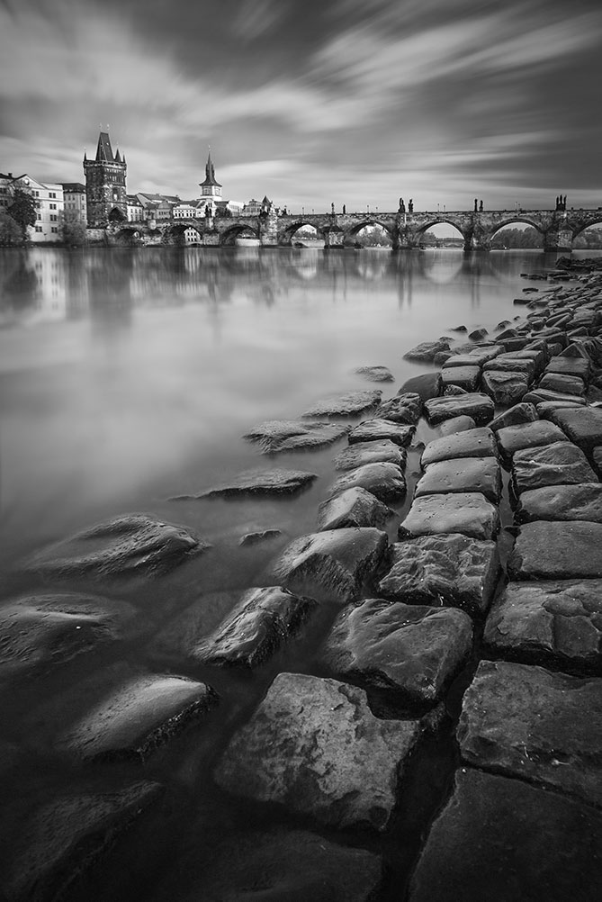 prague photo tour, charles bridge long exposure