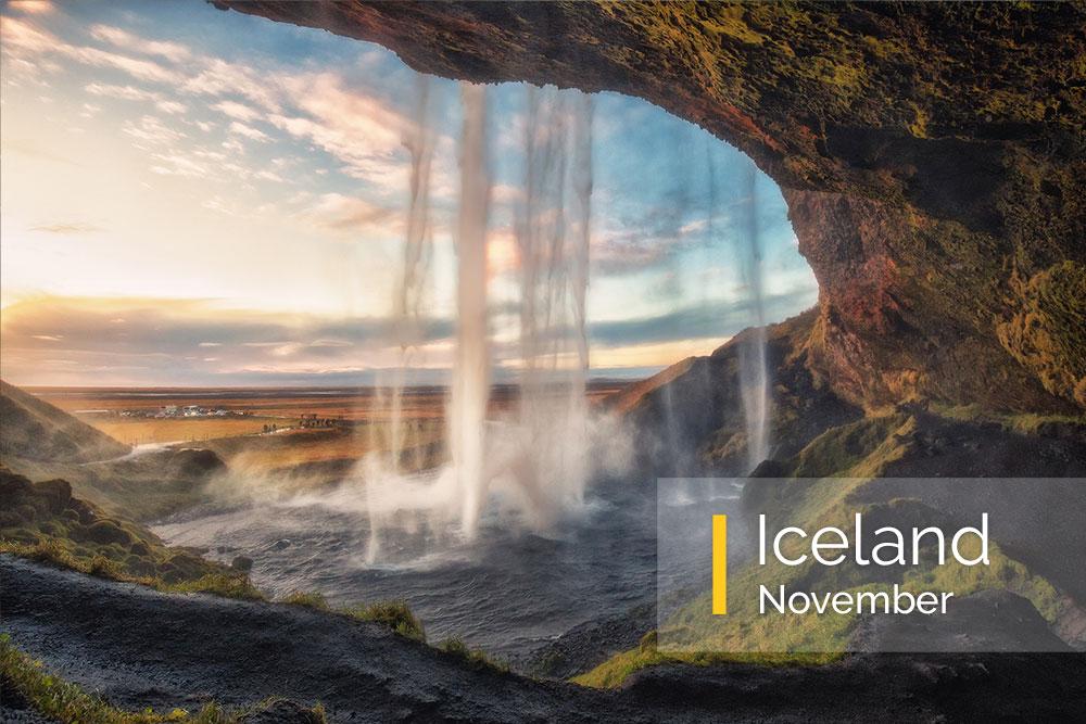 Iceland photography workshop, northern lights, ice caves, waterfalls, diamond beach
