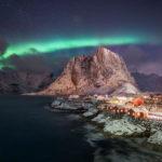 reine with aurora, Lofoten photography workshop