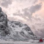 lone red hut, Lofoten photography workshop